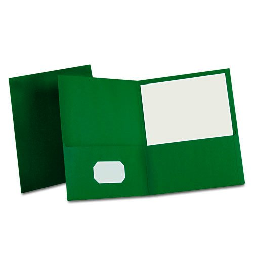 Hunter Green Pocket Folders Image 1