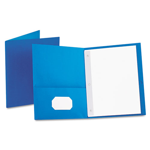 Oxford Light Blue Twin-Pocket Tang Fasteners Portfolios 25pk (ESS-57701), Oxford brand Image 1