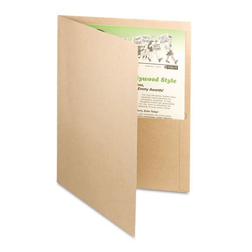 Oxford Natural Recycled Twin-Pocket Portfolio - 25pk (ESS-78542) Image 1