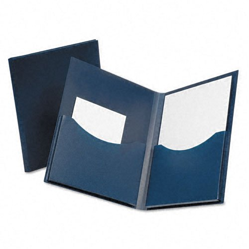 Oxford Navy Double Stuff Gusseted Two-Pocket Folder (ESS-57455) - $2.85 Image 1