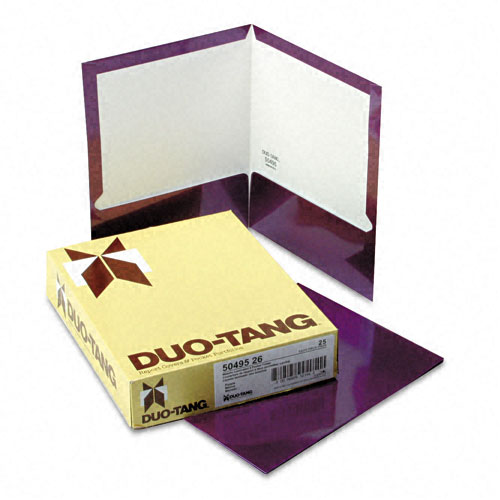 Oxford Purple Metallic Two-Pocket Folders - 25pk (ESS-5049526), Oxford brand Image 1