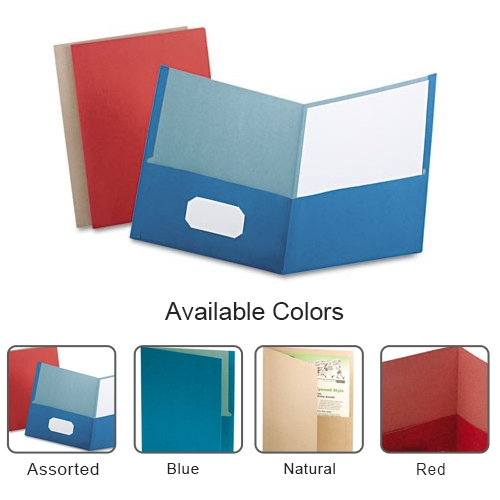 Oxford Recycled Twin-Pocket Portfolio - 25pk (ESS-RTPP), Oxford brand Image 1