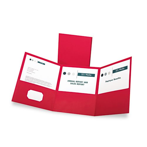 Oxford Red Tri-Fold Pocket Folder - 20pk (ESS-59811), Oxford brand Image 1