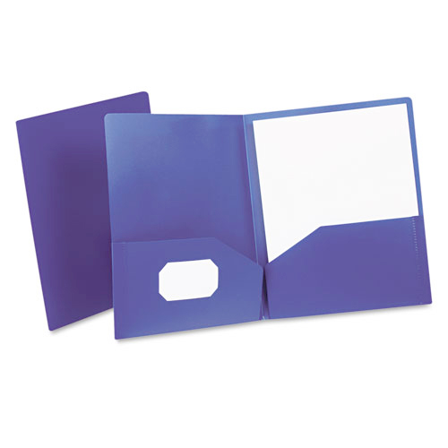 Oxford Royal Blue Poly Twin-Pocket Portfolio (ESS-57402), Oxford brand Image 1
