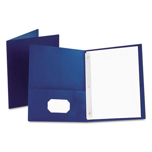 Oxford Royal Blue Twin-Pocket Tang Fasteners Portfolios 25pk (ESS-57702) Image 1