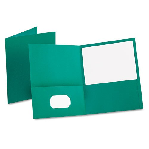 Oxford Teal Textured Paper Letter Size Twin-Pocket Folders - 25pk (ESS-57555) Image 1