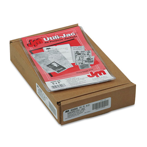 Oxford Utill-Jacs Heavy Duty 5 x 8 Clear Envelopes - 50pk (ESS-65008) Image 1