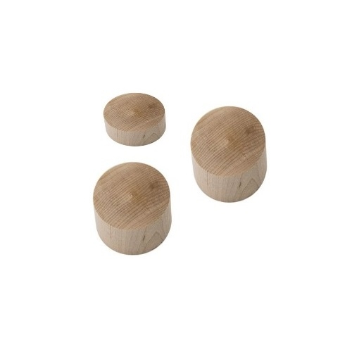 "3"" x 3/4"" Wood Drill Blocks - 12pk (DBL-3) Image 1"