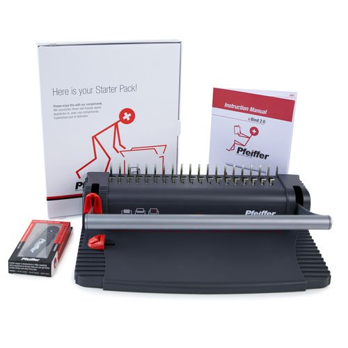 Pfeiffer uBind 2.0 Manual Plastic Comb Binding Machine Starter Kit (PFMB12019) Image 1