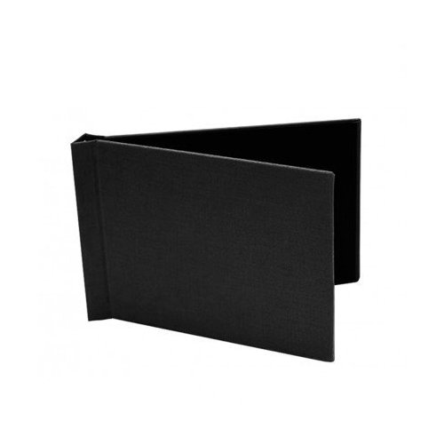 "Pinchbook 8.5"" x 11.75"" Landscape Black Cloth Photobook Hardcovers - 5pk (85851175BLKCLLNW) Image 1"