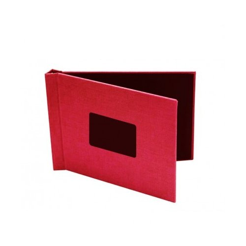 "Pinchbook 8.5"" x 11"" Landscape Red Cloth Photobook Hardcovers with Window - 5pk (858511RDCLL) Image 1"