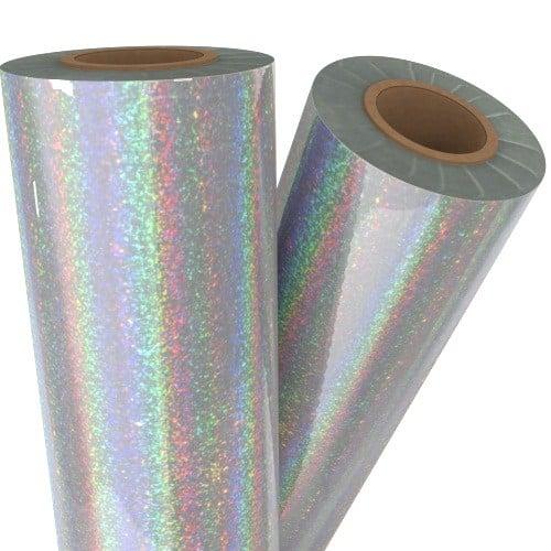"Pixie Dust Silver Holographic 24"" x 500' Laminating / Toner Fusing Foil (FF-SP-150-24) Image 1"