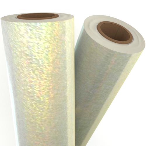 """Pixie Dust Transparent Holographic 24"""" x 500' Laminating / Toner Fusing Foil (FF-TP-150-24) - $497.79 Image 1"""
