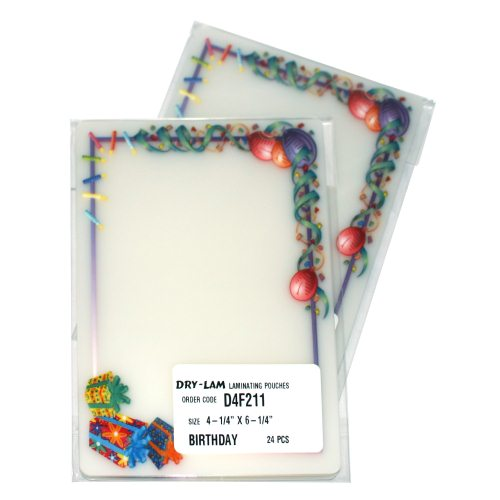 Drylam Pizzazz Pouch Fun Frames Birthday Pack-24 pk (DL-PZPFFBP) Image 1