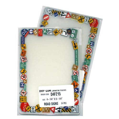Drylam Pizzazz Pouch Fun Frames Smiley Pack - 24 pk (DL-FFSMILEY) Image 1