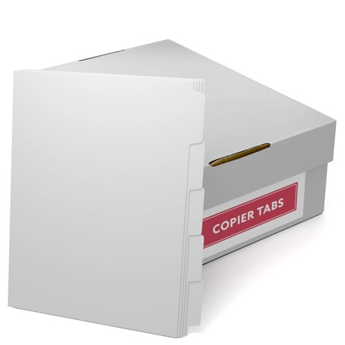 Straight Collated 1/5th Cut 90lb Plain Paper Copier Tabs (B905RC) - $85.09 Image 1