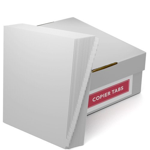 Print your own 1/25th Cut 90lb Legal Exhibit Tabs - 1 Carton (1000 tabs) (B90-25XX) Image 1