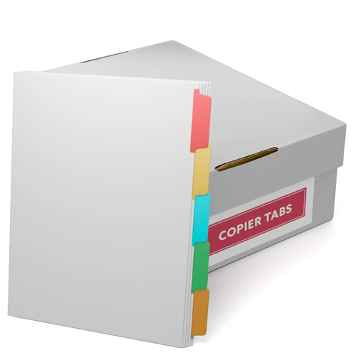 Multi-Colored Trilar Coated Docucopy Copier Tabs - 1 Carton (CUSTOMTCCTMUL) - $214.09 Image 1