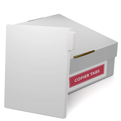 Uncollated 1/5th Cut 90lb Mylar Coated Copier Tabs with 3 Holes Punched (UC1590T3H) Image 1
