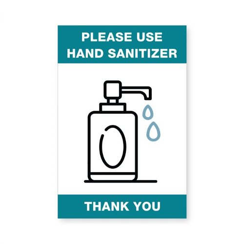 "Please Use Hand Sanitizer - 4"" x 6"" Acrylic Sign (97PPEHANDS46) Image 1"