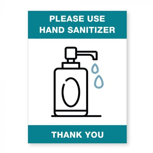 "Please Use Hand Sanitizer - 8"" x 6"" Acrylic Sign (97PPEHANDS), Work from Home Products Image 1"
