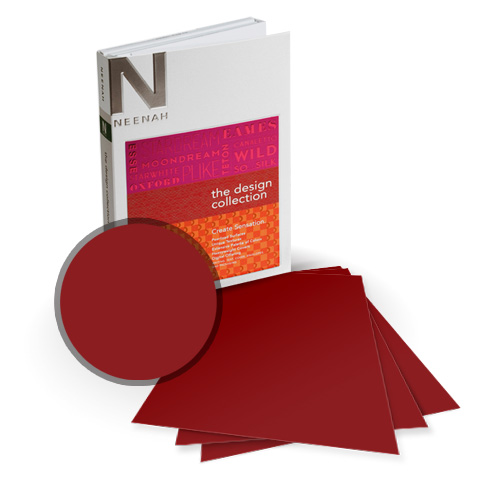 "Neenah Paper PLIKE Bordeaux Plastic Like Soft Touch 8.5"" x 14"" Card Stock - 8 Sheets (NPCBX534-D) Image 1"