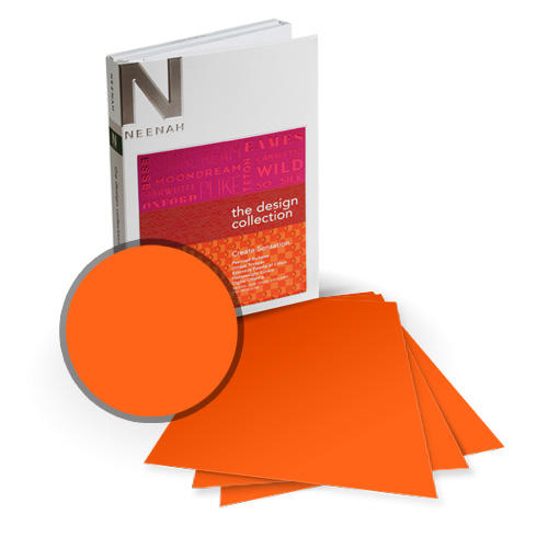 "Neenah Paper PLIKE Orange Plastic Like Soft Touch 9"" x 11"" Card Stock - 8 Sheets (NPCOR534-B) Image 1"