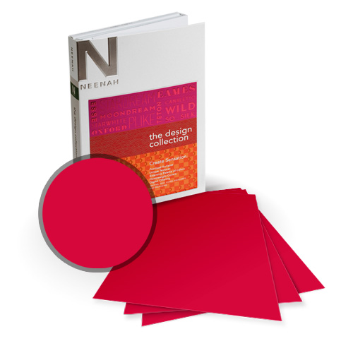"Neenah Paper PLIKE Red Plastic Like Soft Touch 8"" x 8"" Card Stock - 15 Sheets (NPCR534-J) Image 1"