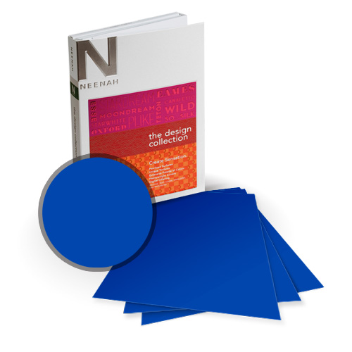 Neenah Paper PLIKE Royal Blue Plastic Like Soft Touch 5.5