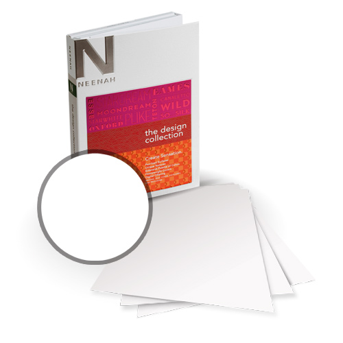 "Neenah Paper PLIKE White Plastic Like Soft Touch 13"" x 19"" Card Stock - 4 Sheets (NPCW534-H) Image 1"