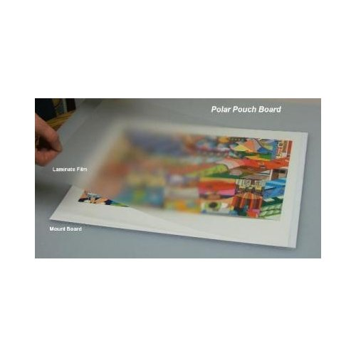 "Polar Pressure Sensitive Foam Pouch Boards - 24"" x 36.5"" Gloss White 10pk (80PPBFWG2436) Image 1"