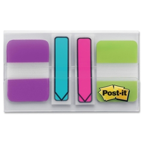 "Post-It 1"" x 0.50"" Multicolor Tab Write-on Durable Index Tabs - 64pk (MMM686VAPLOTG) - $4.83 Image 1"
