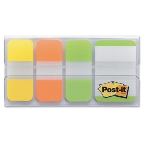 "Post-It 1"" x 0.63"" Assorted Tab Write-on Durable Index Tabs - 40pk (MMM686YOLLOTG) - $4.83 Image 1"