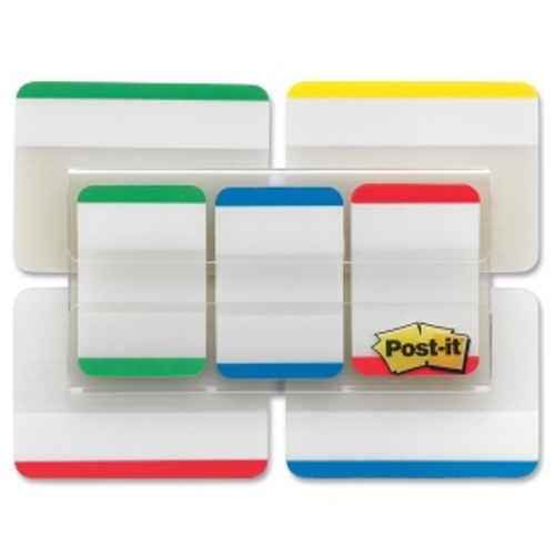 "Post-It 2"" x 1"" Assorted Tab Write-on Durable Index Tabs - 66pk (MMM686VAD1) Image 1"