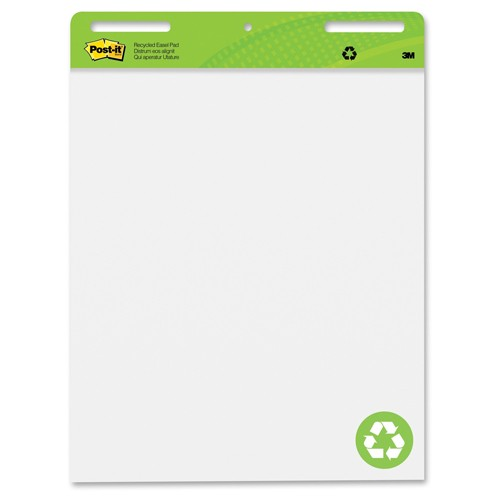 "Post-It 25"" x 30"" Recycled White Self-Stick Easel Pad (MMM-PRWSSEP), Boards Image 1"