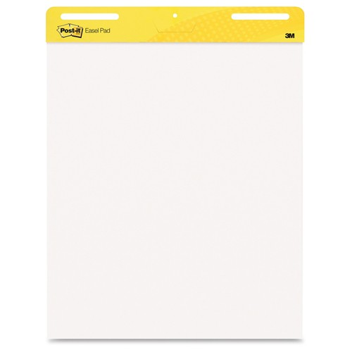 "Post-It 25"" x 30"" White Self-Stick Easel Pad (MMM-PWSSEP), Boards Image 1"