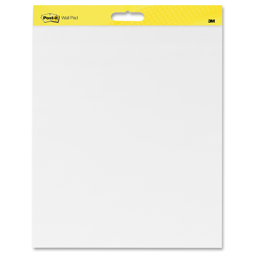 "Post-It Self-Stick Dry-Erase 20"" x 23"" White Paper Wall Pad - 2 Pads (MMM566) Image 1"