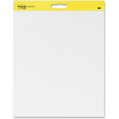 "Post-It Self-Stick Dry-Erase 20"" x 23"" White Paper Wall Pad (MMM-PSSDEWPWP) Image 1"