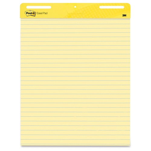 "Post-It 25"" x 30"" Lined Yellow Self-Stick Easel Pad (MMM-PLYSSEP), Boards Image 1"