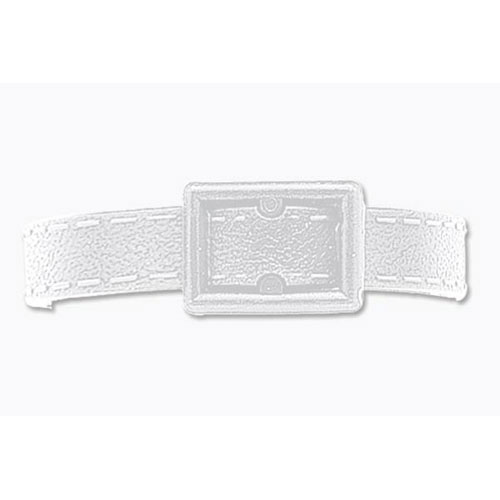 Post-Notch White Plastic Luggage Strap - 500pk (MYID24302018) Image 1