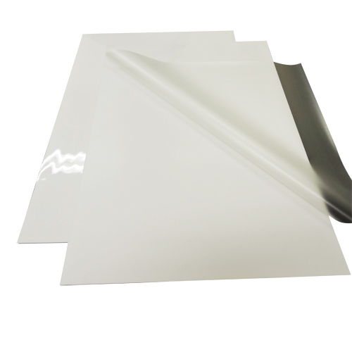 "White ProSeal 41"" x 61"" Clear Gloss Mounting/Laminating Pouch Boards - 10pk (MYBC41WHT) Image 1"