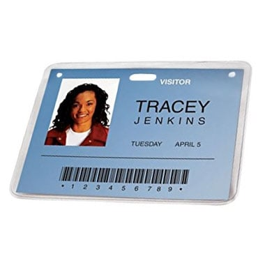 GBC pre-punched-id-badge-lamination-pouches-50-pack-3747552 (3747552-FBA), Clearance Products Image 1