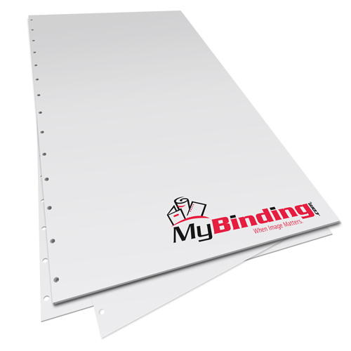 """8.5"""" x 14"""" 20lb Velobind 14 Hole Pre-Punched Binding Paper - 500 Sheets (MY8.5X14V11HPBP20RM) Image 1"""