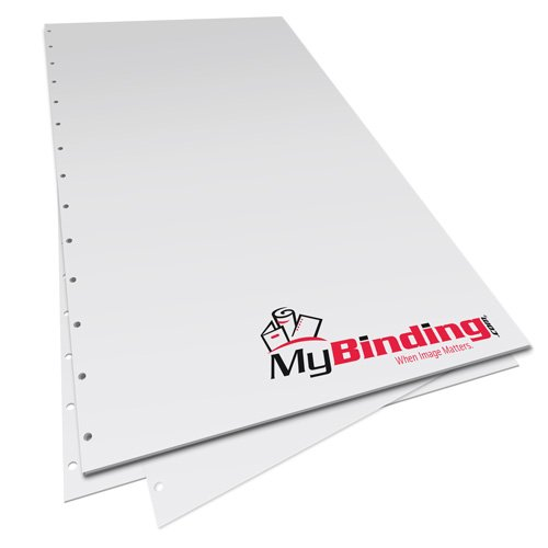 """8.5"""" x 14"""" 24lb Velobind 14 Hole Pre-Punched Binding Paper - 1250 Sheets (MY8.5X14V11HPBP24CS) - $92.09 Image 1"""