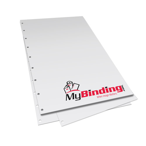 "5.5"" x 8.5"" 20lb Velobind 9 Hole Pre-Punched Binding Paper - 5000 Sheets (MYV118.5X5.5PP20CS), Binding Supplies Image 1"