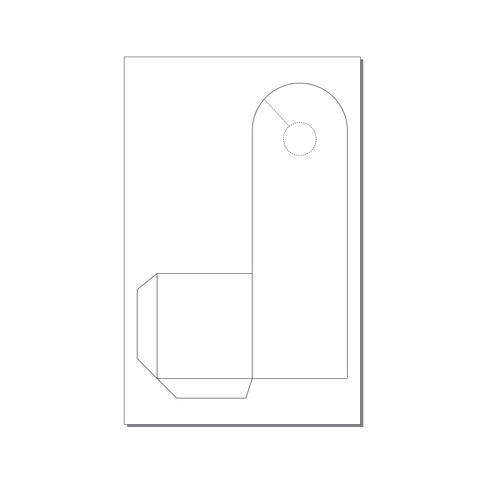 Zapco Print Your Own 1-up Arch Door Hanger with Pocket - 250pk (ZAPDH1179) Image 1