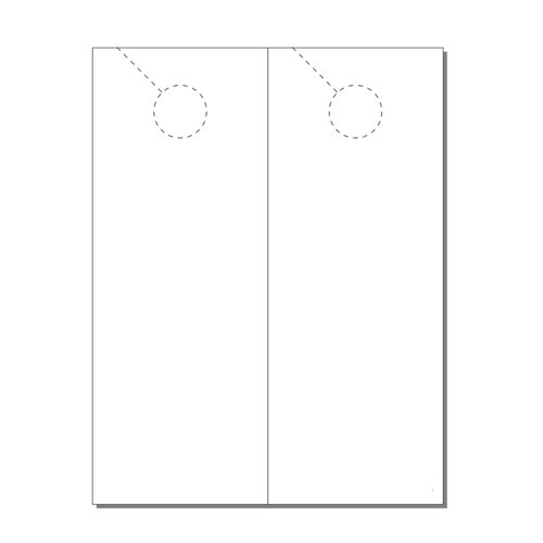Zapco Print Your Own 1-up Fold Over Door Hangers - 250pk (ZAPDH245) Image 1