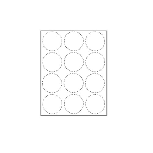 "Zapco Print Your Own 2.25"" 12-Up Button Blanks - 100 Sheets (ZAPCC684), Zapco brand Image 1"