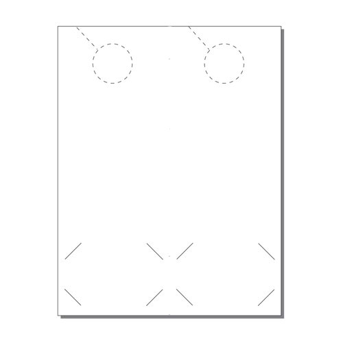 Zapco Print Your Own 2-up Door Hangers with Business Card Slits - 250pk (ZAPDH208) Image 1