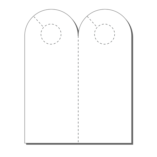 Zapco Print Your Own 2-up Laser Perforated Arched Door Hangers - 250pk (ZAPDH234L) Image 1